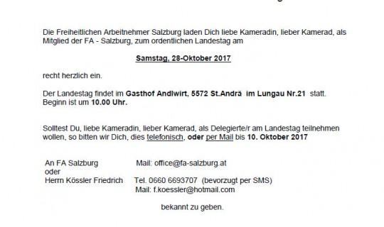 Ordentlicher Landestag am 28.10.2017